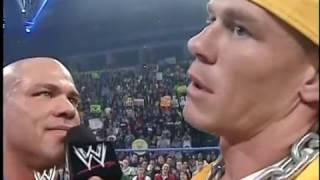 Kurt Angle & John Cena Face-Off [2004-02-19]