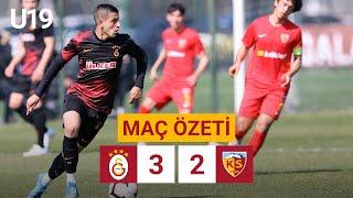 Özet | Galatasaray 3-2 Hes Kablo Kayserispor | U19 Elit Gelişim Ligi