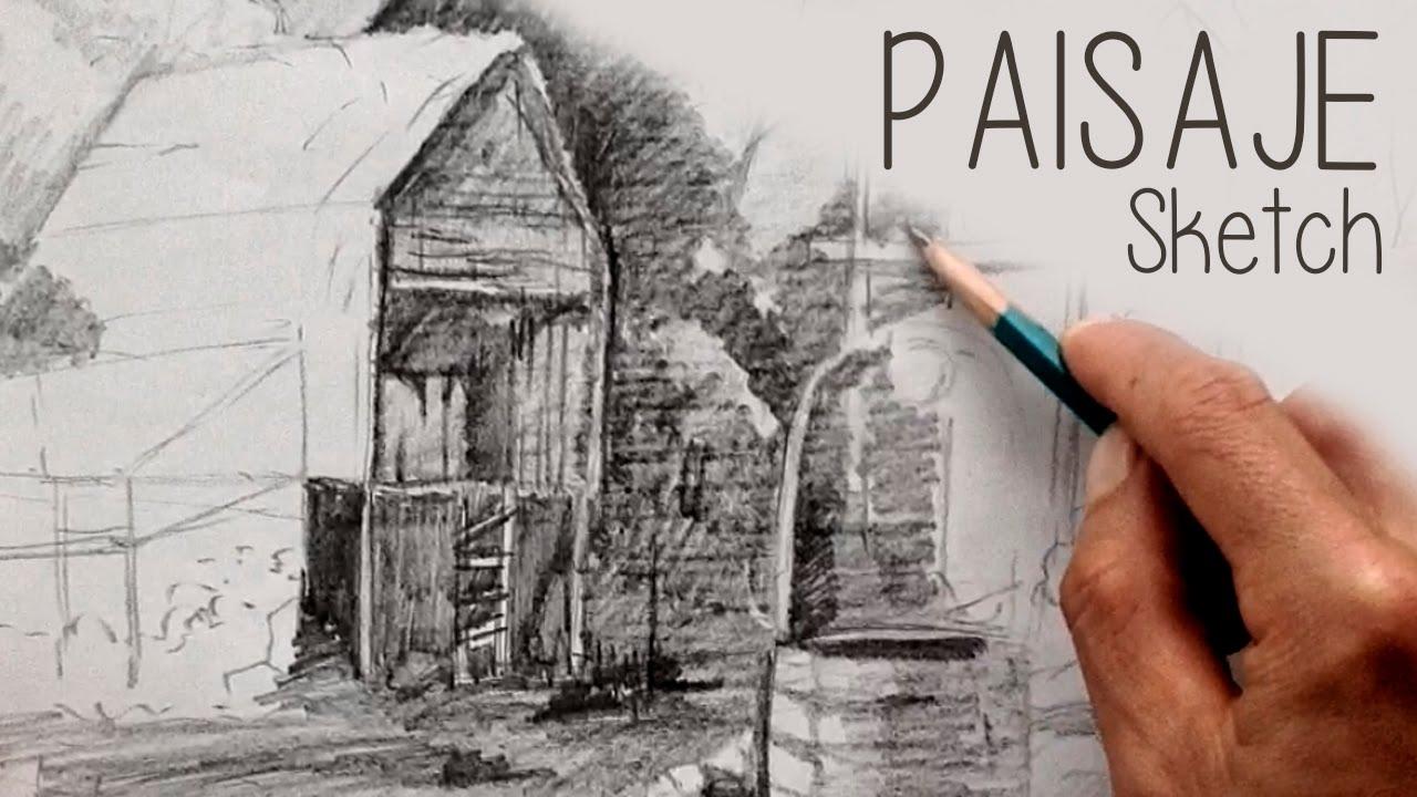 Dibujo De Lineas Paisaje: Tips Dibujar Paisaje, Lapiz, Sketch.