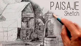 Tips dibujar Paisaje, Lapiz, Sketch.