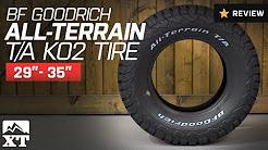 "Jeep Wrangler BF Goodrich All-Terrain T/A KO2 Tire (29""-35"") Review"