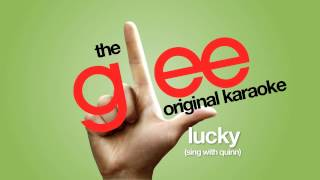Glee - Lucky Sing With Quinn - Karaoke Version