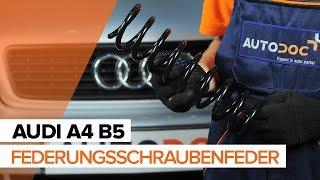 Wie AUDI A4 B5 Fahrwerksfedern hinten wechseln TUTORIAL | AUTODOC
