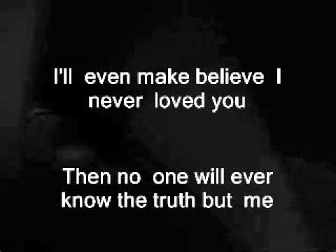 NO ONE WILL EVER KNOW, LARRY SPARKS, LYRICS