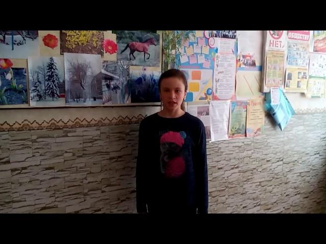 Изображение предпросмотра прочтения – КристинаНикитина читает отрывок изпроизведения «Рассказ танкиста» А.Т.Твардовского