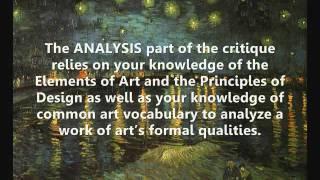 Critiquing Art, A Learning Process