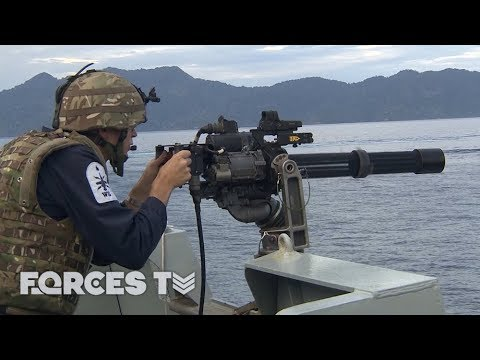 On Board HMS Argyll While It Practises Air And Sea Battles | Forces TV