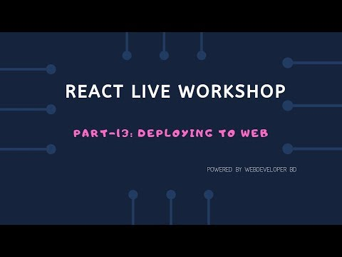 13.Deploying Your app to the web | React Js Bangla tutorial thumbnail
