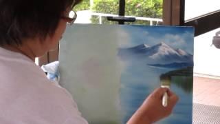 BobRoss art painting demonstration.MOV