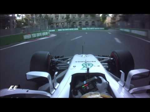 2017 Azerbaijan Grand Prix | Lewis Hamilton Onboard Pole Lap