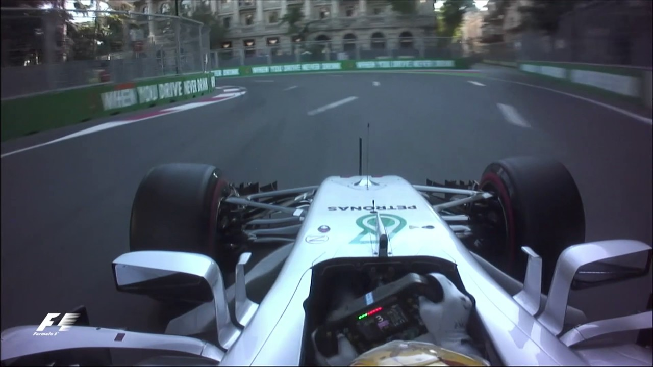 Azerbaijan Grand Prix >> 2017 Azerbaijan Grand Prix | Lewis Hamilton Onboard Pole ...