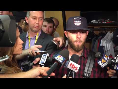 Boston's Dustin Pedroia on seeing Andrew Miller early