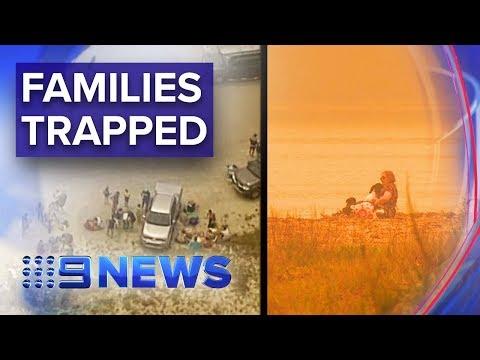 Ferocious fires hit NSW south coast   Nine News Australia