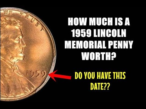 How Much Is A 1959 Lincoln Penny Worth? - First Date Of The Memorial!