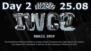 S6 Worlds 2016 International Wildcard Qualifiers Full Day 2 | LoL eSports IWCQ 2016 Brazil