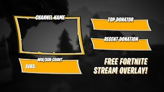 FREE FORTNITE STREAM OVERLAY!