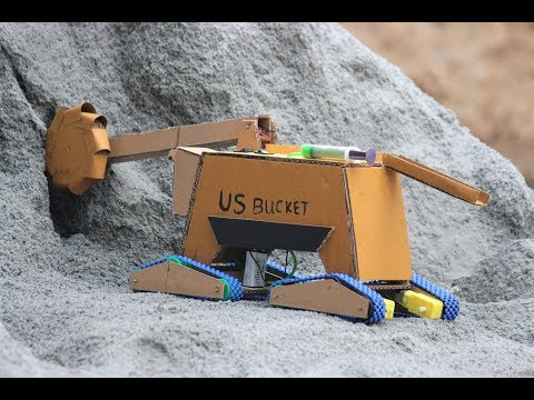 Bucket wheel - How To Make a Bucket Wheel excavator from Cardboard