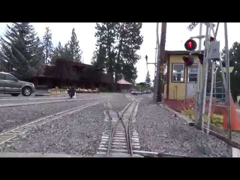 "Train Mountain Oregon: 4 Hour Electric Box Cam Ride with a Diesel Loco ""Tractor Pull"" At end"