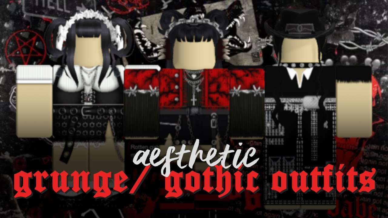 Aesthetic Grunge Gothic Roblox Outfits Lookbook 3 Youtube
