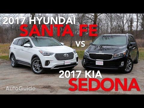 2017 Kia Sedona vs 2017 Hyundai Santa Fe