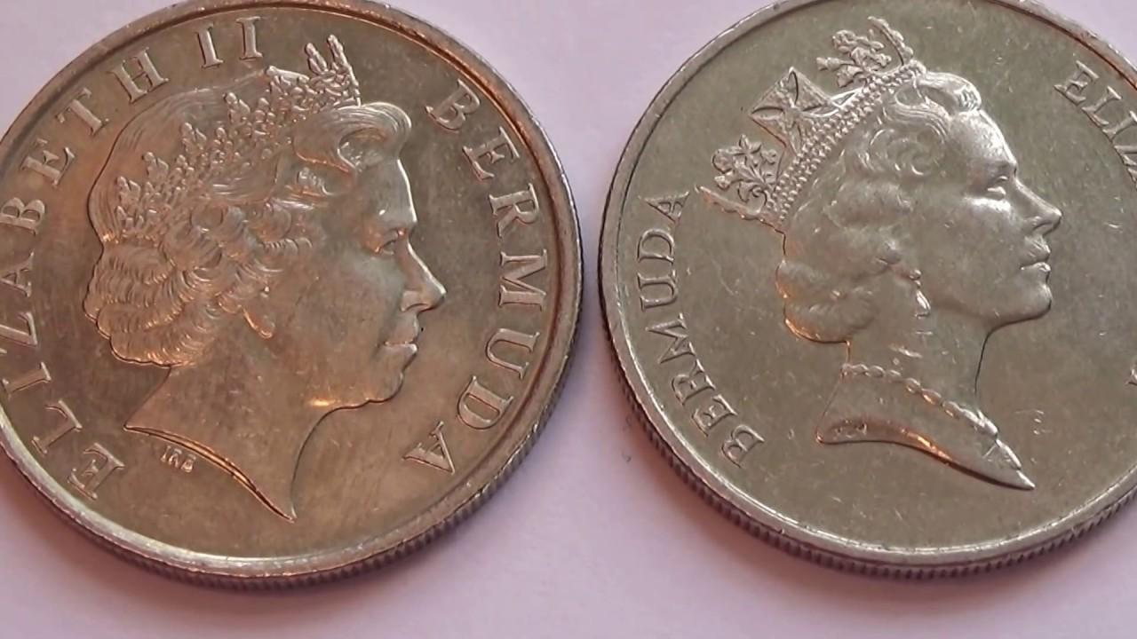 Queen Coins Two Elizabeth Bermuda Old F135JulKcT