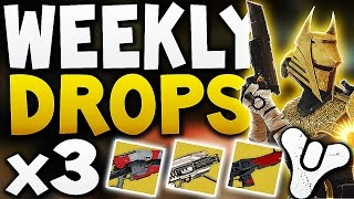 Destiny - Weekly Drops x3 Characters (Exotic Loot !)