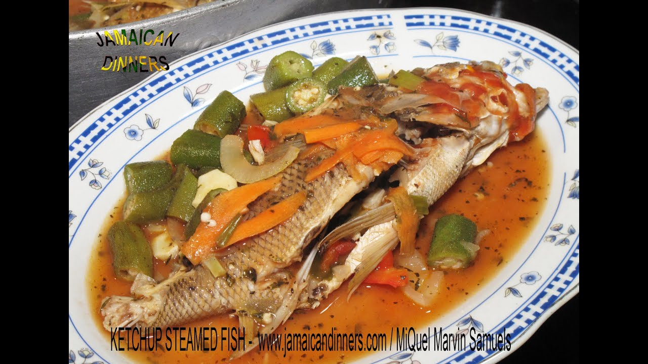Ketchup steamed fish okra style 2 of 3 recipe youtube for How to steam fish