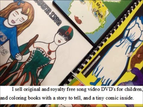 coloring story books with a comic inside
