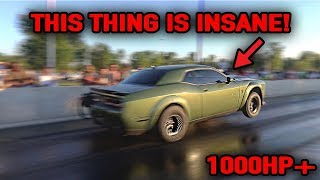 FASTEST DODGE DEMON IN THE WORLD RACING!