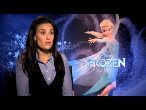 Idina Menzel talks about husband Taye Diggs in Disney\'s Frozen interview-Get The Movie