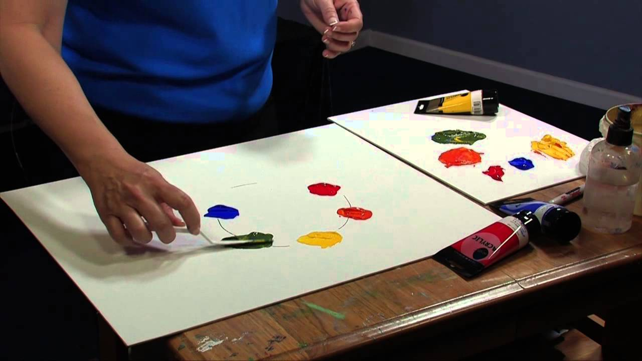 Color theory online games - Daler Rowney Simply Acrylics How To Make A Color Wheel