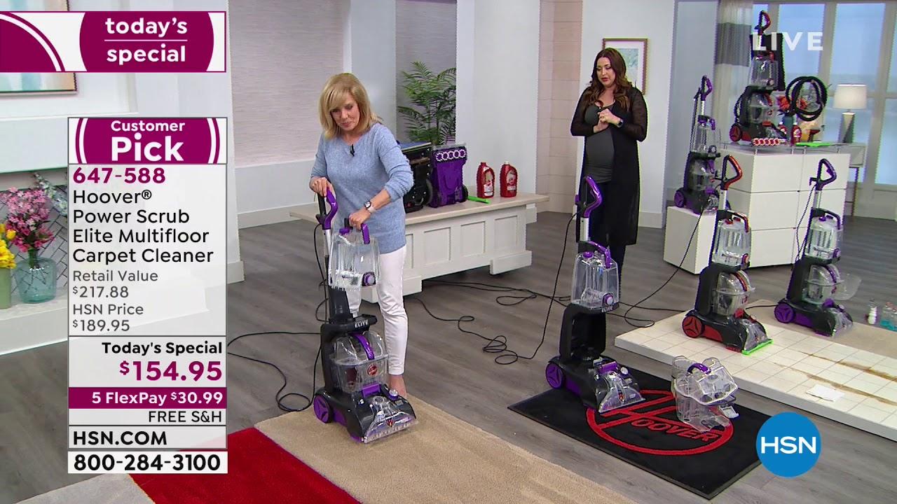 Hoover Power Scrub Elite Multifloor Carpet Cleaner With Youtube
