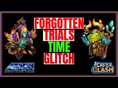 RANK #1 FORGOTTEN TRIALS 36  - TIME GLITCH HACK - CASTLE CLASH