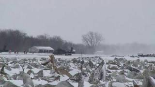 Missouri River Ice Jam Demolition