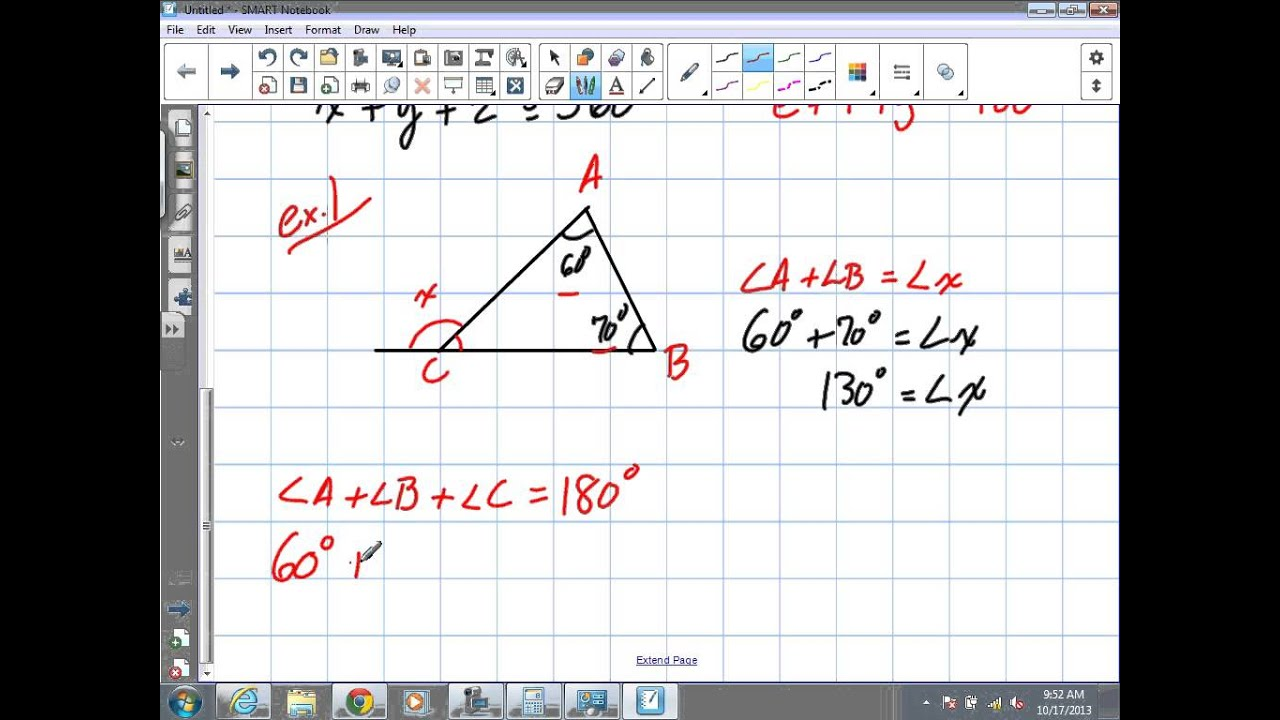 medium resolution of Angle Relationships in Triangles Grade 9 Academic Lesson 7 1 10 17 13) -  YouTube