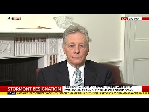 Northern Ireland First Minister Peter Robinson To Step Down