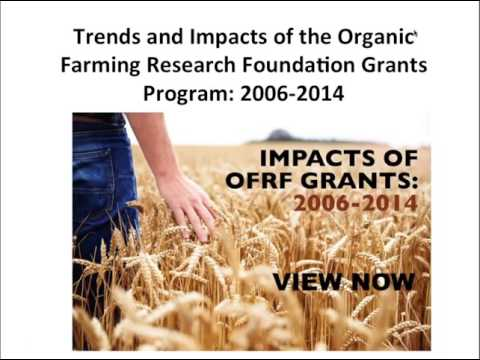 Assessment of Future Organic Research Needs