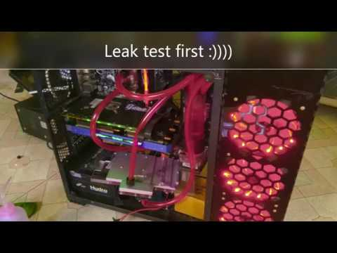 DIY GPU block Palit 1080Ti Water cooling System