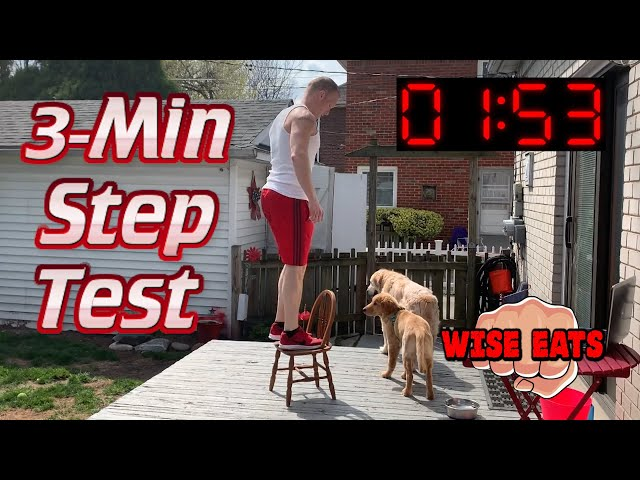The 3 Minute Step Test - Fitness Assessment for Cardiorespiratory Fitness CRF (WesFitness.com)