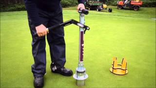 BMS i-Pro Golf Hole Cutter - Open Championship Hole Changing at Woburn Golf Club
