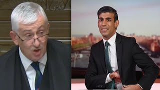 Furious Speaker tears into Rishi Sunak: A minister would resign in olden days!