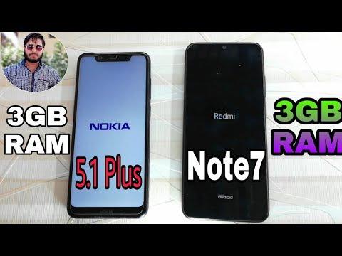 Redmi Note 7 vs Nokia 5.1 Plus Speed Test Comparison?