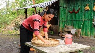 住在大山裏的女人,每天勞作,耕地,今天收獲了自己播種的豌豆【南方小蓉】