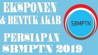 Eksponen dan bentuk akar  per bab - Persiapan SBMPTN 2019- TES CENTER 2019- 1-5 soal