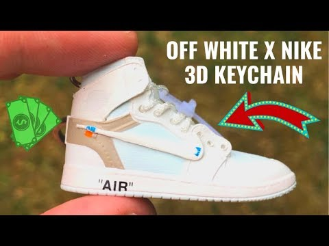 055d4320aade04 Off White Air Jordan 1 Keychain - Sneakerhead   Hypebeast Must-Have(INSANE  DETAILS + 3D Printed). Accessoires Eternity