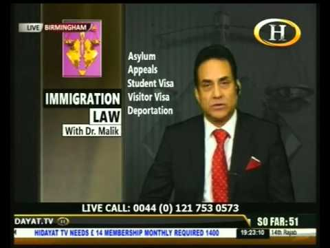 Immigration Law with Dr Malik 22 April 2016