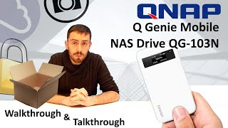 The QNAP Q Genie Mobile NAS Drive QG-103N - Unboxing, Walkthrough and Talkthrough with SPAN.COM