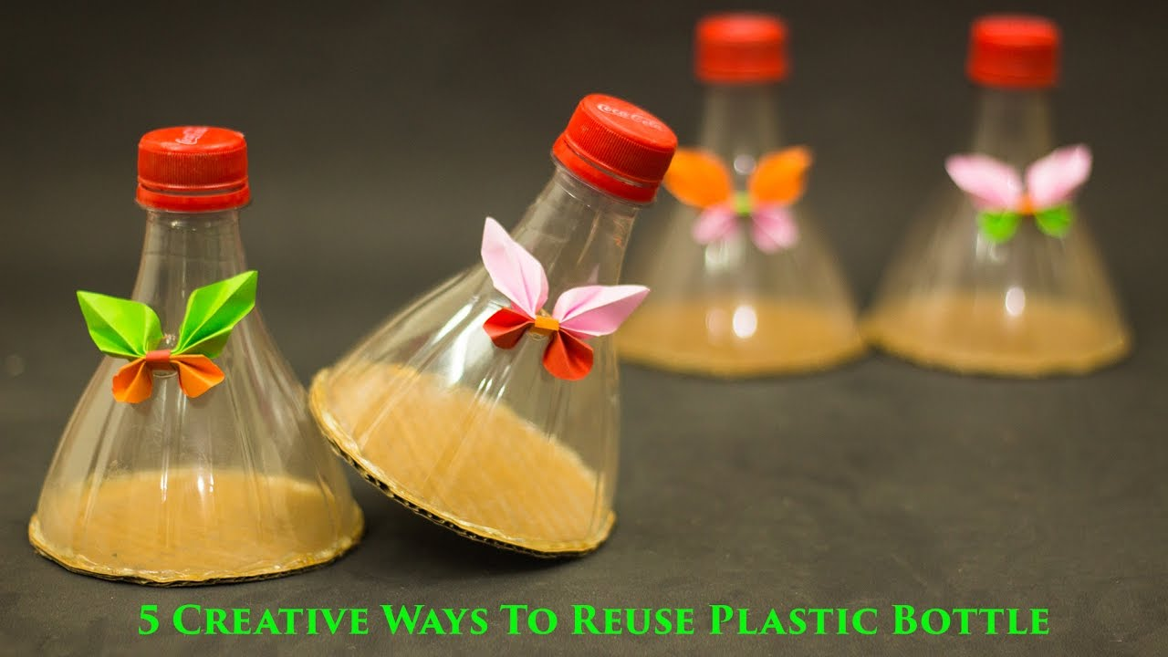 5 creative ways to reuse and recycle plastic bottles youtube