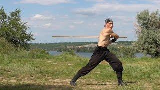 Martial arts: long stick, rotation