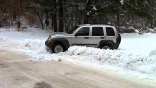Jeep liberty in snow